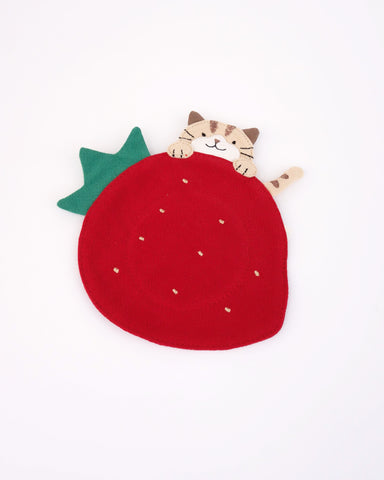 Strawberry Cat Coaster