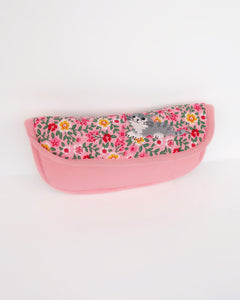 Blooming Padded Sunglasses Pouch (Pink Poppies)