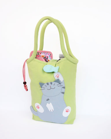 Bottle Tote (Spring Green)