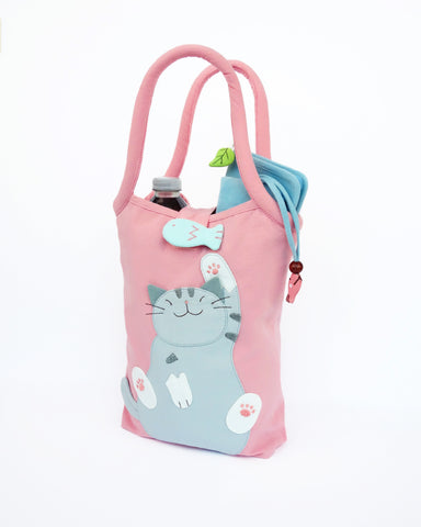 Bottle Tote (pink)