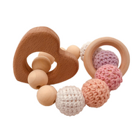 Crochet Bead Teething Ring