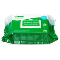 Clinell CW200 Universal Disinfectant Wipes - Pack of 200 Large Wipes - Me Organics