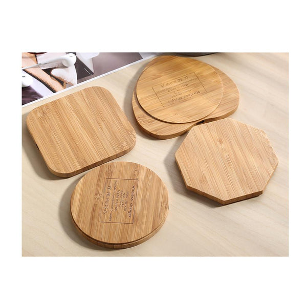 Heart Shape Bamboo Wireless Charger