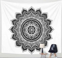 Printed Lotus Tapestry Blanket