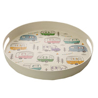 Reusable Bamboo Large Round Tray