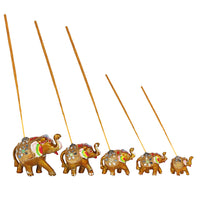 Set of 5 elephant Incense Burners - Me Organics