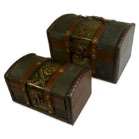 Sets of 2 Colonial Boxes - Metal Embossed - Me Organics