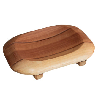 Classic Mahogany Soap Dish - Oval in Rectangle - Me Organics
