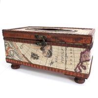 Tissue Box- Old Map with Legs - Me Organics