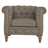 Multi Tweed Chesterfield Armchair - Me Organics