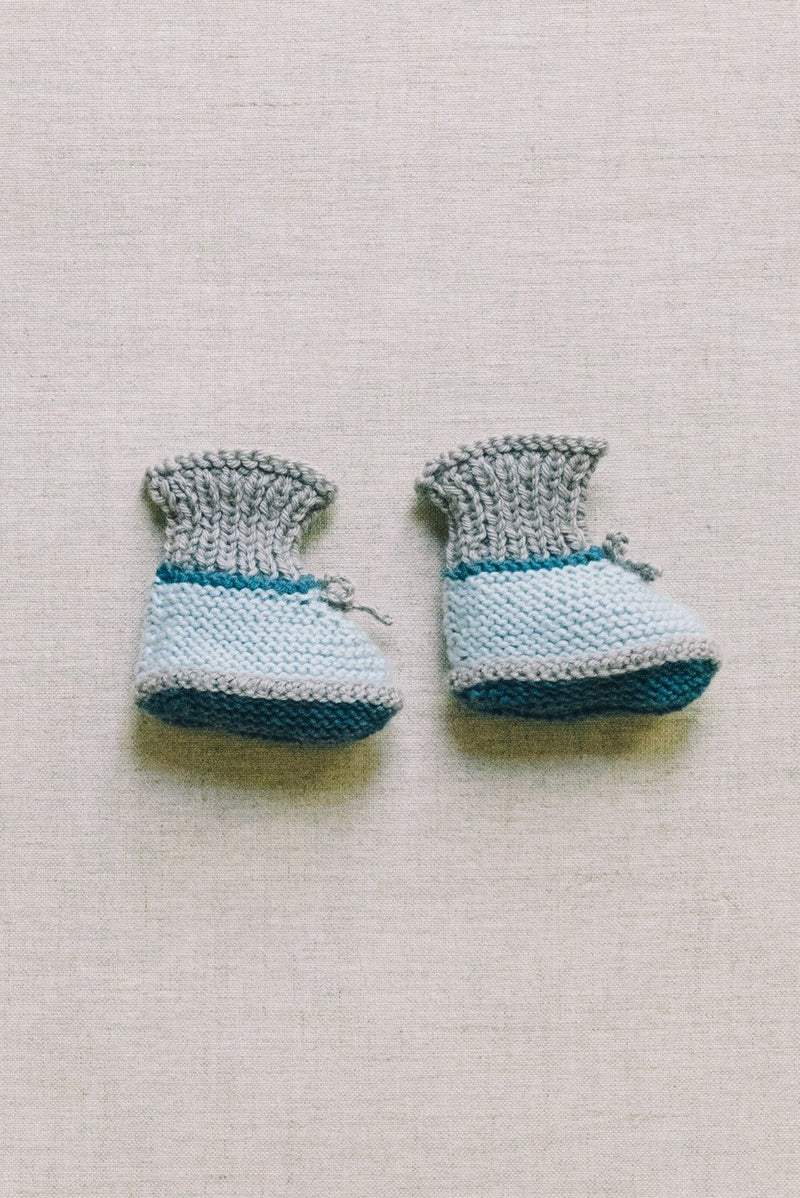 Lolo booties - baby blue/grey