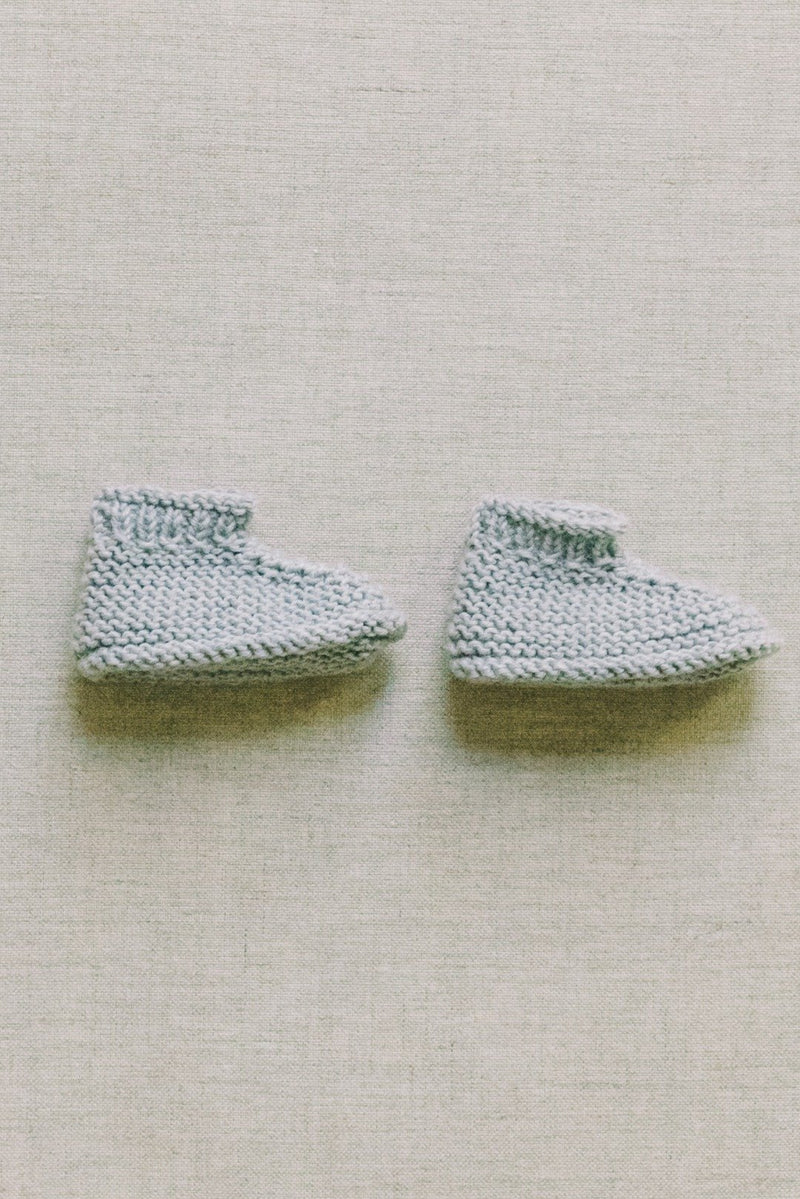 Reiets Baby Booties - Heather Grey