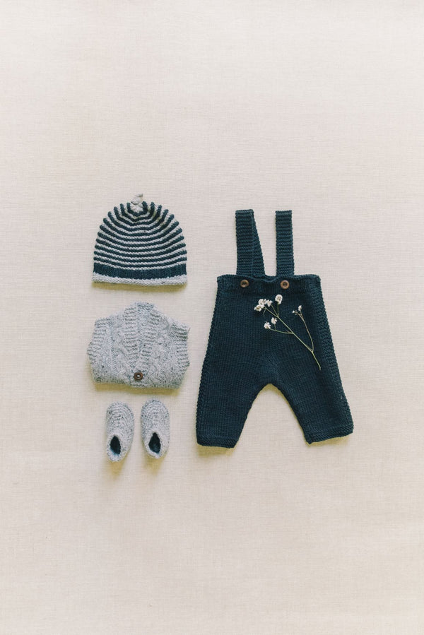 Reiets Heirloom Manu Baby Set  | Black/Grey