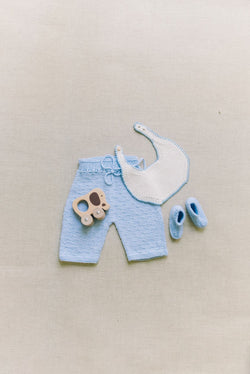 Reiets Winter Bib Blue Set