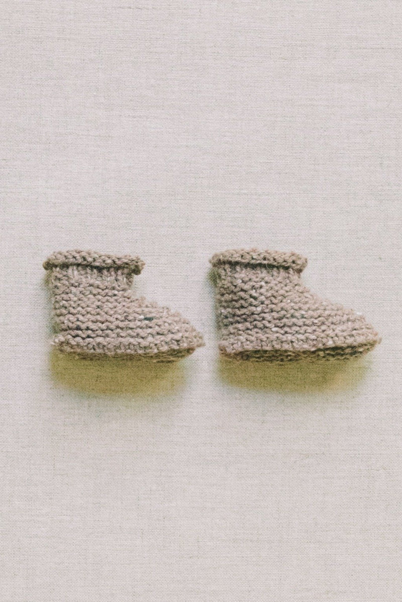 Camel Tweed Booties - Reiets