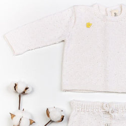Reiets Gioia Sweater & Shorts Set - White