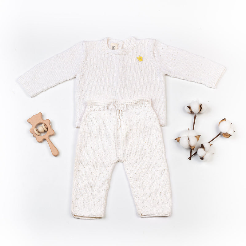 Reiets Gioia Sweater & Trousers Set - White