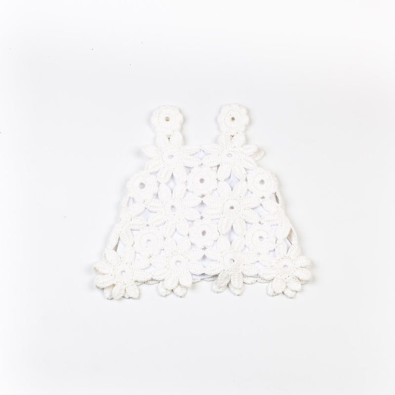 Batlló Floral Dress & Shorts Set - White