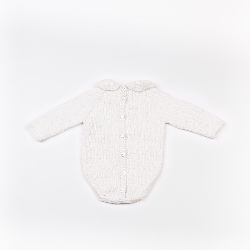 Reiets Gioia Long Sleeve Bodysuit - White