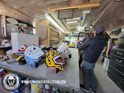 Behind the Scenes Goalie Mask Filming