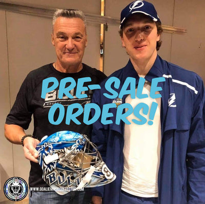 Pre-Order: VASILEVSKIY Signed Goalie Mask! Tampa Bay Lightning are in the Finals!