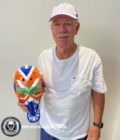 NEW: BILLY SMITH SIGNED GOALIE MASKS - ISLANDERS NEW YORK AUTOGRAPHED-  FIRST TIME EVER IN COMPANY HISTORY!