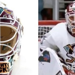 UPCOMING SIGNING: GOLDBERG (SHAUN WEISS) SIGNED MIGHTY DUCKS GOALIE MASK