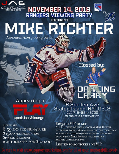 EVENT: MIKE RICHTER SIGNING IN NEW YORK, NOV 14, 2019!