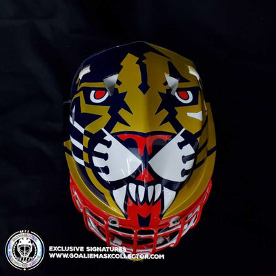"NEW ARRIVAL: JOHN VANBIESBROUCK ARMADILLA GOALIE MASK 1994 ""GAME READY"" Painted by Don Straus"