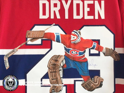 NEW: KEN DRYDEN SIGNED ART EDITION JERSEY! AUTOGRAPHED MONTREAL CANADIENS LEGEND