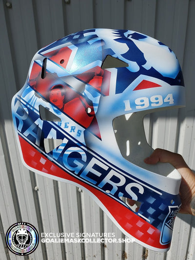 INSIDER: MIKE RICHTER GOALIE MASK LEGACY EDITION 25TH CUP WINNING ANNIVERSARY - NEW YORK