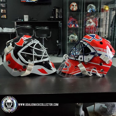 ROY VS BRODEUR: SIGNED GOALIE MASKS