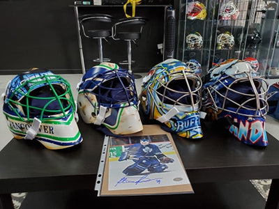 GOALIE MASK AUCTIONS: ROBERTO LUONGO CANUCKS RYAN MILLER SABRES