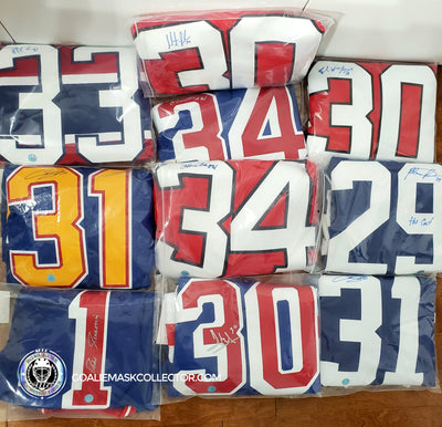NEW: AUTOGRAPHED NHL GOALIE JERSEYS ON GOALIE MASK AUCTIONS!
