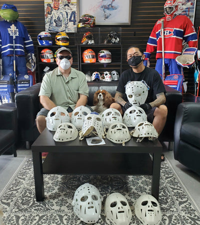 VINTAGE NHL MASK MADNESS WEEK AT GOALIE MASK COLLECTOR: BROMLEY - SMITH  -FURH - CRAIG - GIACOMIN & MORE