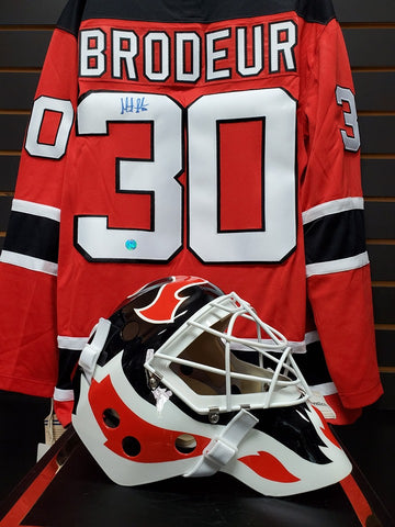 Marty_Brodeur_signing_mask_jersey_goalie_mask_collector_sports_minded_unlimited