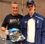 ANDREI VASILEVSKIY SIGNED GOALIE MASK AUTOGRAPHED TAMPA BAY VEZINA 2019 INSCRIPTION SIGNATURE EDITION