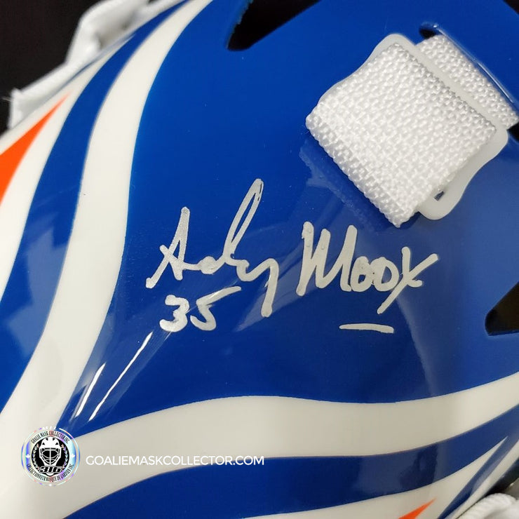 ANDY MOOG SIGNED GOALIE MASK AUTOGRAPHED EDMONTON SIGNATURE EDITION