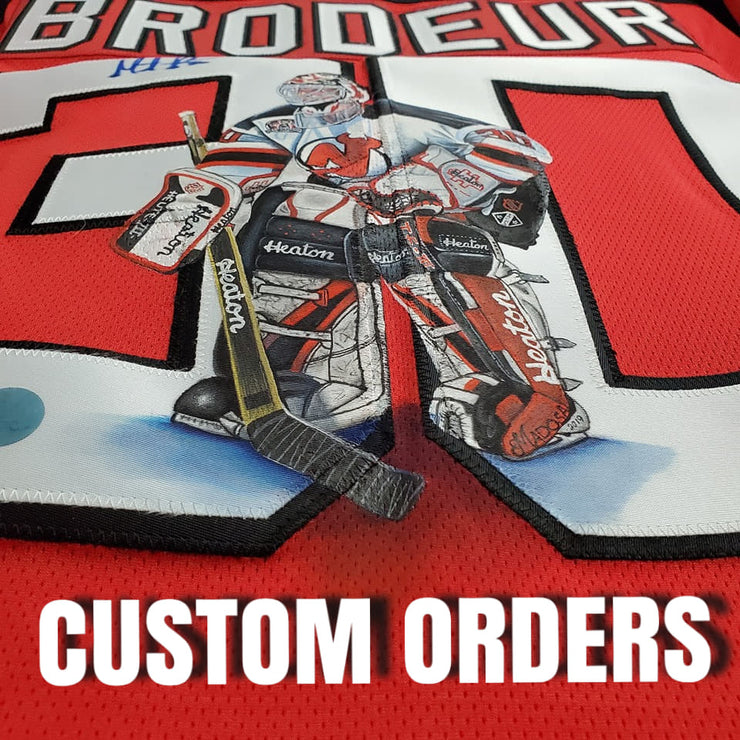 CUSTOM ORDER: ART EDITION JERSEY HAND-PAINTED  SEND-IN YOUR OWN JERSEY