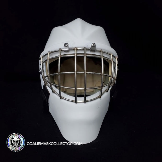 BEE316 GOALIE MASK SHELL + INCLUDES CUSTOM ARTWORK INSPIRED BY JOHN VANBIESBROUCK & KELLY HRUDEY