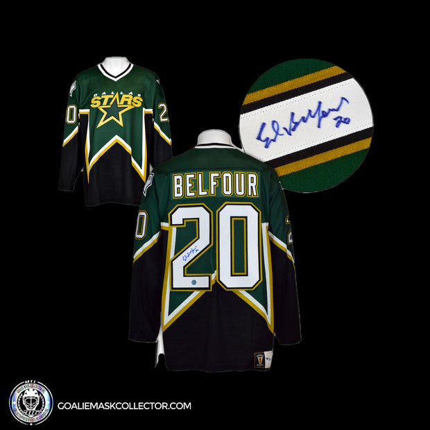 Ed Belfour Signed Jersey Dallas Stars Autographed
