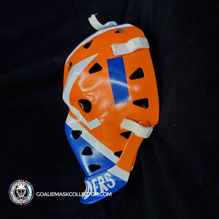 BILLY SMITH UN-SIGNED GOALIE MASK NEW YORK PREMIUM VINTAGE