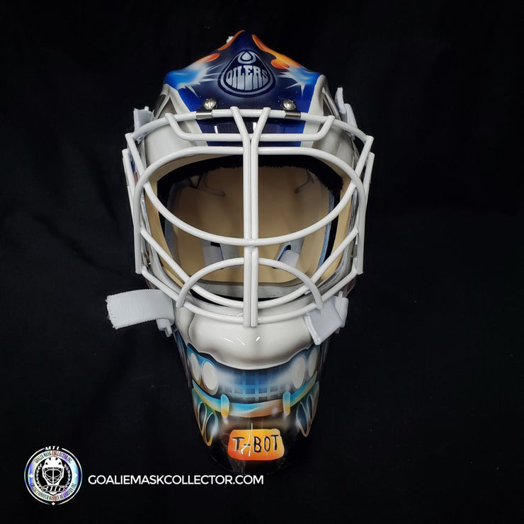Cam Talbot Goalie Mask Un-Signed Edmonton Ghostbusters