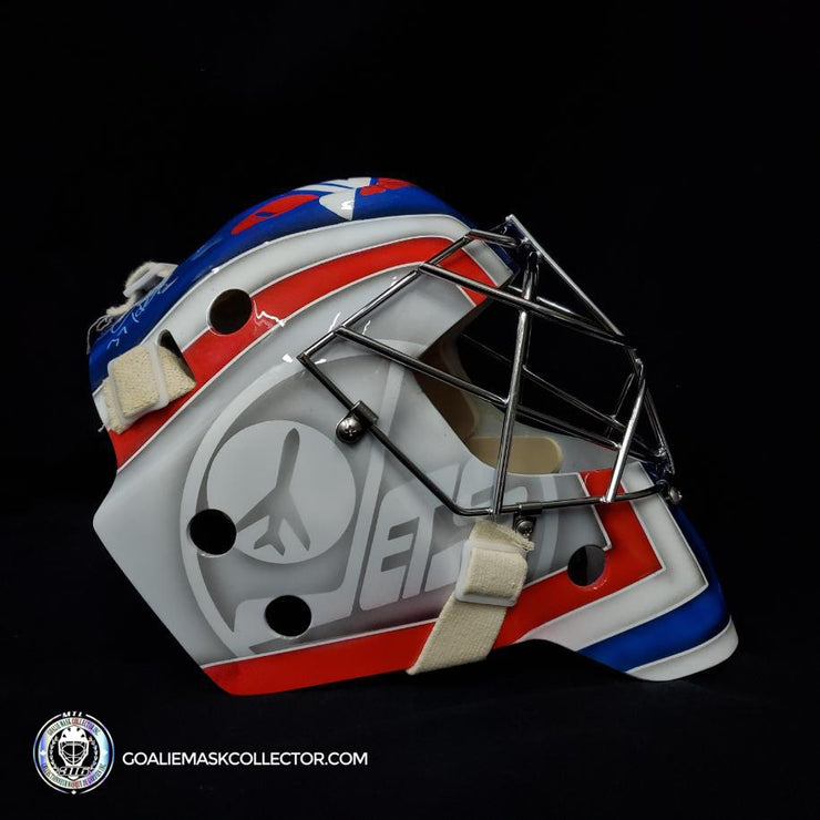 Connor Hellebuyck Signed Goalie Mask Winnipeg 2016 Heritage Signature Edition