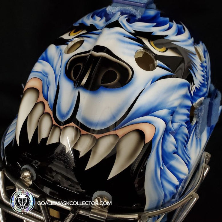 "Curtis Joseph PRO ""ICE READY"" Goalie Mask ""Toronto Maple Leafs Signed Itech Wright Shell Painted By Frank Cipra"