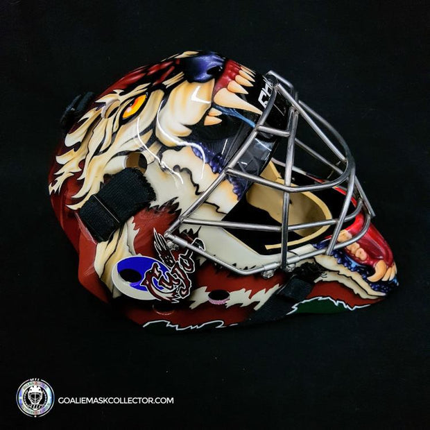 Curtis Joseph Practice Worn Game Issued Goalie Mask Coyotes Phoenix 2005-2007 Reebok
