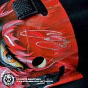 CURTIS CUJO JOSEPH SIGNED GOALIE MASK AUTOGRAPHED DETROIT MAD DOG VINYL EDITION