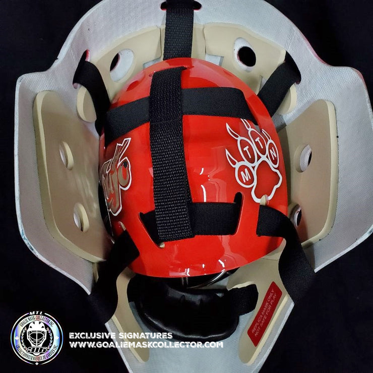 CURTIS CUJO JOSEPH SIGNED GOALIE MASK AUTOGRAPHED DETROIT MAD DOG SIGNATURE EDITION