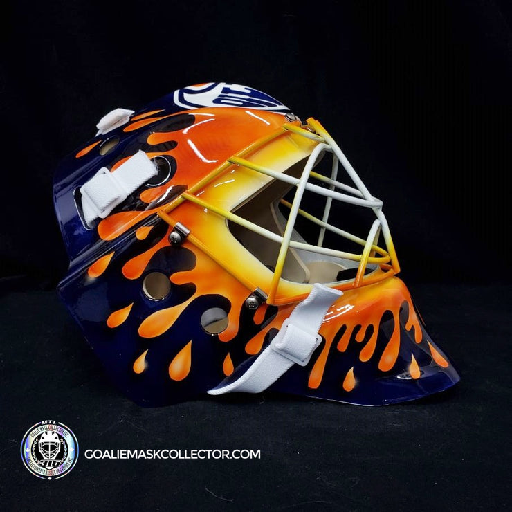 "Curtis ""CUJO"" Joseph Signed Goalie Mask Autographed Edmonton Splash Signature Edition"