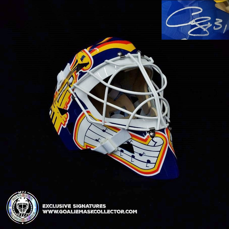 CURTIS JOSEPH SIGNED GOALIE MASK AUTOGRAPHED ST. LOUIS TRUMPET AS EDITION